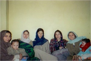 With female Burushos in Srinagar (2004)