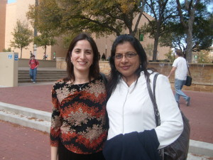 Sadaf Munshi with Shahnaz Hunzai at the University of North Texas (2009)
